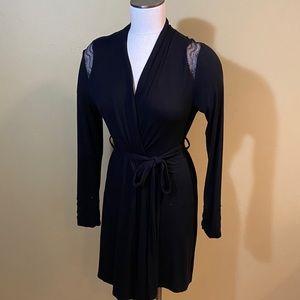 Cache Coeur Robe Short Black Knit S/M